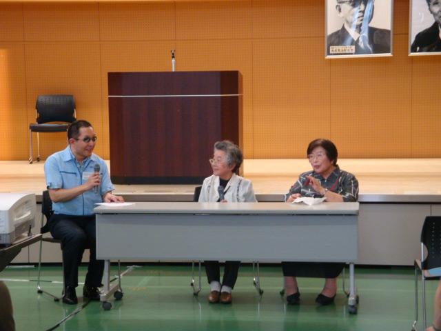 情報ボランティアの芝本様、山崎様の活動報告