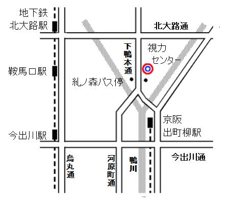 地図:京都府立視力障害者福祉センター