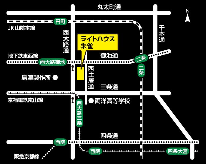 黒背景の地図
