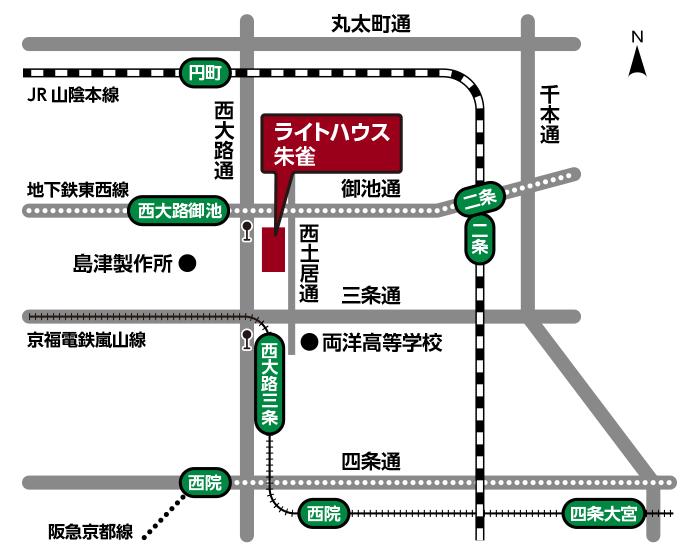 白背景の地図